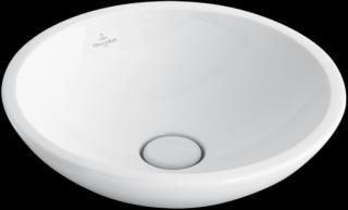 Umyvadlo na desku Villeroy & Boch Loop&Friends 43x43 cm bez otvoru pro baterii 51440101 bílá bílá