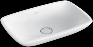 Umyvadlo na desku Villeroy & Boch Loop&Friends 58,5x38 cm bez otvoru pro baterii 51540001 bílá bílá