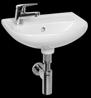 Umývátko Jika Lyra plus 40x31 cm bez otvoru pro baterii H8153810001091 bílá bílá