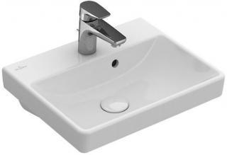 Umývátko Villeroy & Boch Avento 45x37 cm GLACERAAVU121 bílá bílá