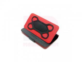 Univerzální pouzdro se stojánkem FIXED pro mobilní telefony s úhlopříčkou 4,5 - 5, černočervené