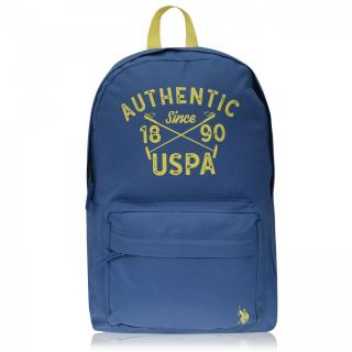 US Polo Assn Colour Block Backpack Other | Monaco Blue One size