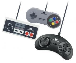 USB Herní ovladače ve stylu SNES, NES a SEGA - 3 ks