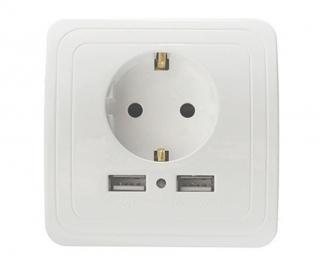 USB zásuvka na zeď Varianta: zásuvka