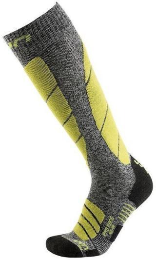 UYN Pro Race Mens Socks Grey Melange/Green Lime 39-41 pánské 39-41