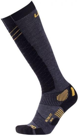 UYN Ultra Fit Pánské Lyžařské Ponožky Anthracite/Yellow 39-41 pánské Black 39-41