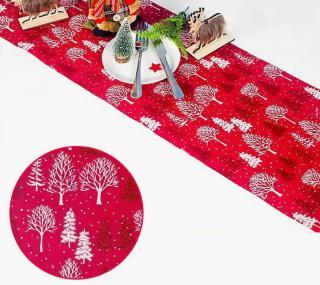 Vánoční běhoun na stůl C589 Varianta: 1