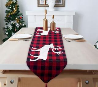 Vánoční běhoun na stůl Varianta: 1