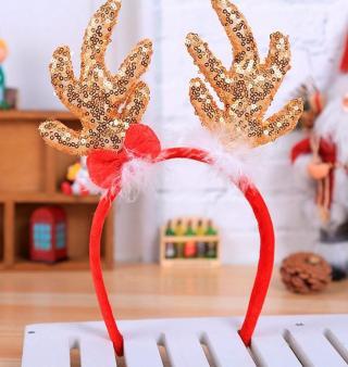 Vánoční čelenka sob Barva: červená