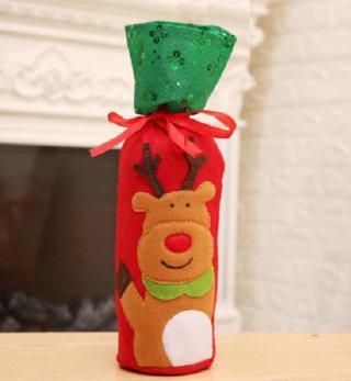 Vánoční dárková taška na víno - 3 varianty Varianta: sob