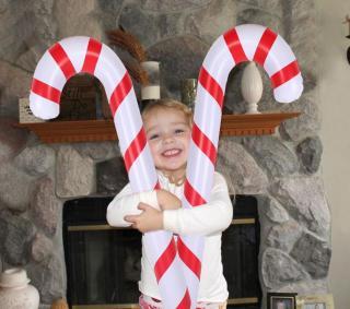 Vánoční nafukovací lízátko