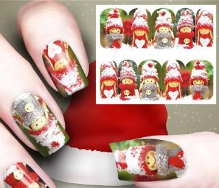 Vánoční nálepky na nehty 10 ks Varianta: 1