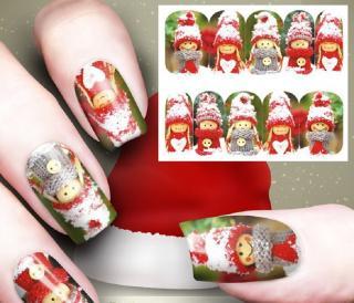Vánoční nálepky na nehty Varianta: 1