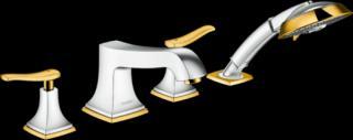 Vanová baterie Hansgrohe Metropol Classic bez podomítkového tělesa chrom/vzhled zlata 31441090 ostatní chrom