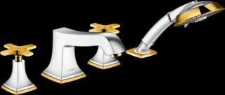 Vanová baterie Hansgrohe Metropol Classic bez podomítkového tělesa chrom/vzhled zlata 31449090 ostatní chrom