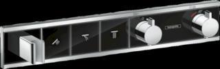 Vanová baterie Hansgrohe Rainselect bez podomítkového tělesa černá/chrom 15356600 černá černá