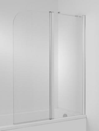 Vanová zástěna Jika Cubito 140x115 cm lesklá stříbrná H2574260026681