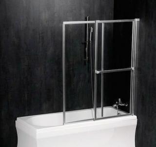 Vanová zástěna Polysan OLBIA 140x123 cm leštěný hliník 30317 bílá
