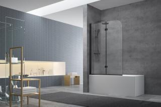 Vanová zástěna Swiss Aqua Technologies 150x105 cm černá SATVZSK105C