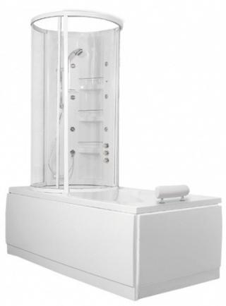 Vanová zástěna Teiko VZCK 154x85 cm bílá VZV17015200