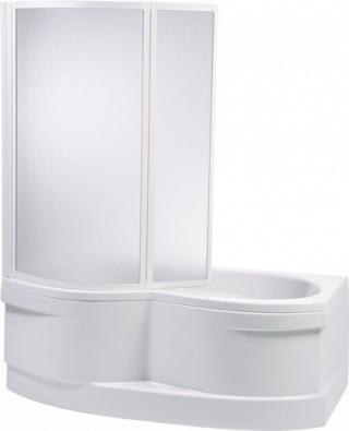 Vanová zástěna Teiko VZKO 135x110 cm bílá VZV36211101