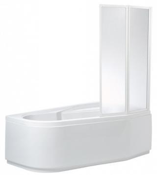 Vanová zástěna Teiko VZKR 135x90 cm bílá V311090N51T42001