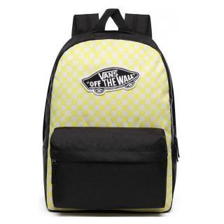 VANS Městský batoh Realm Lemon Tonic Checkerboard 27 l černá