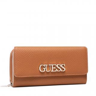 Velká dámská peněženka GUESS - Uptown Chic (VG) Slg SWVG73 01620  COGNAC Hnědá