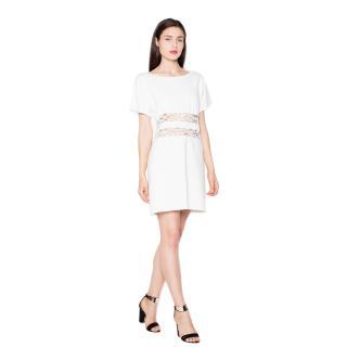 Venaton Womans Dress VT066 dámské ecru M
