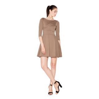 Venaton Womans Dress VT077 Mocca dámské ecru M