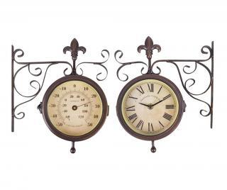 Venkovní nástěnné hodiny Double Faced Hnědá
