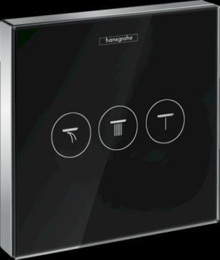 Ventil Hansgrohe Showerselect Glass bez podomítkového tělesa černá/chrom 15736600 černá černá