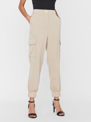 Vero Moda béžové kalhoty Paula - XL dámské béžová XL