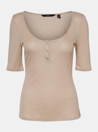 Vero Moda béžové tričko Tammie - XS dámské béžová XS