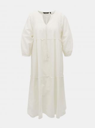 Vero Moda bílé maxi šaty Ollie - XS dámské bílá XS