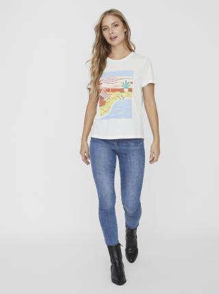 Vero Moda bílé tričko Trisholly - XS dámské bílá XS