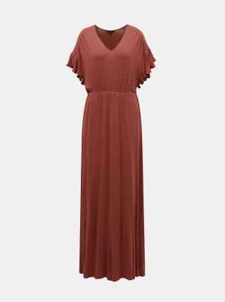 Vero Moda bordové maxi šaty Donna - XS dámské vínové XS