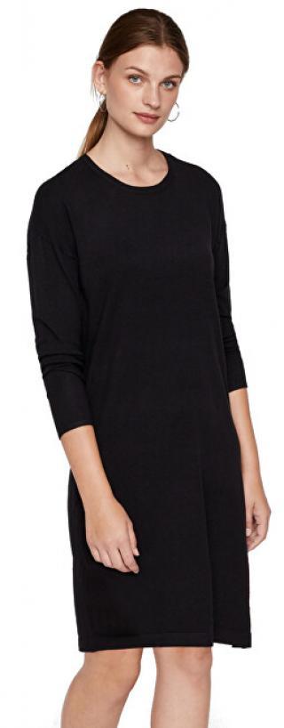 Vero Moda Dámské šaty VMHAPPY BASIC LS ZIPPER DRESS NOOS Black XS dámské
