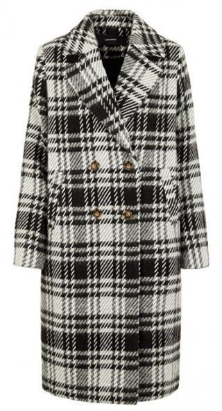 Vero Moda Dámský kabát VMCOOKIE LONG WOOL JACKET KI Black WHITE XL dámské