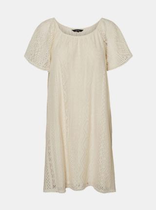 Vero Moda krémové volné šaty - S dámské smetanová S
