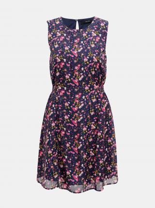 Vero Moda modré květované šaty  - XS dámské modrá XS