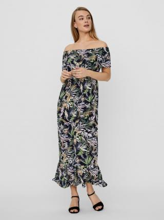 Vero Moda modré maxi šaty Phoebe s květinovým motivem - XS dámské modrá XS