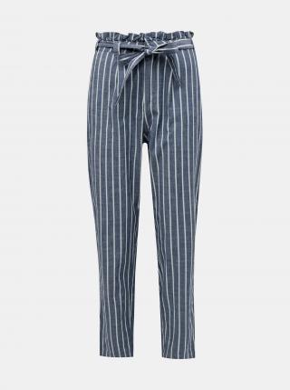 Vero Moda modré pruhované kalhoty s vázáním   - XS dámské modrá XS