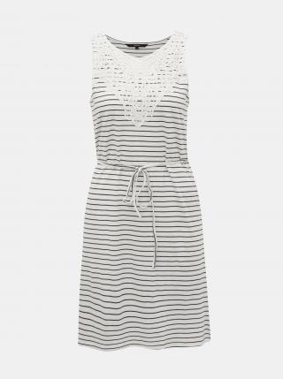 Vero Moda pruhované šaty Hela - M dámské bílá M