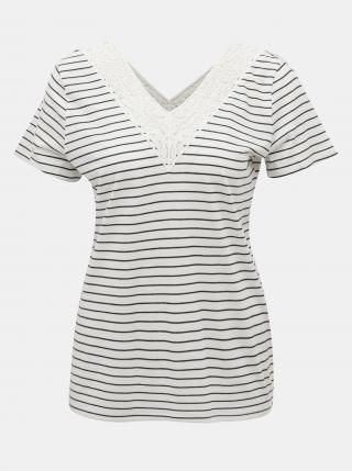 Vero Moda pruhované tričko Hela - XS dámské bílá XS