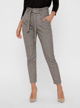 Vero Moda šedé kostkované kalhoty - S dámské šedá S