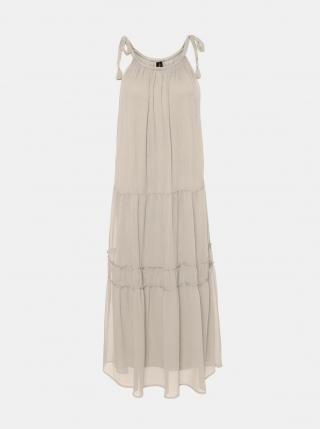 Vero Moda smetanové/krémové maxi šaty Penelope - L dámské smetanová L