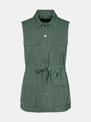 Vero Moda zelená vesta Paula - XS dámské XS