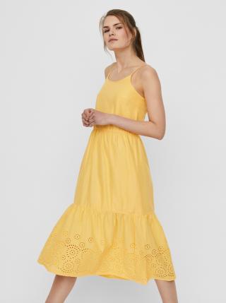 Vero Moda žluté letní šaty - S dámské žlutá S