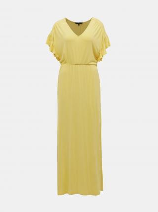 Vero Moda žluté maxi šaty Donna - XS dámské žlutá XS